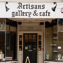 Graphic link to Artisan's Gallery & Cafe blog