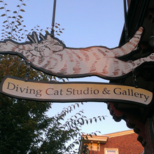 Graphic link to the Diving cat blog page