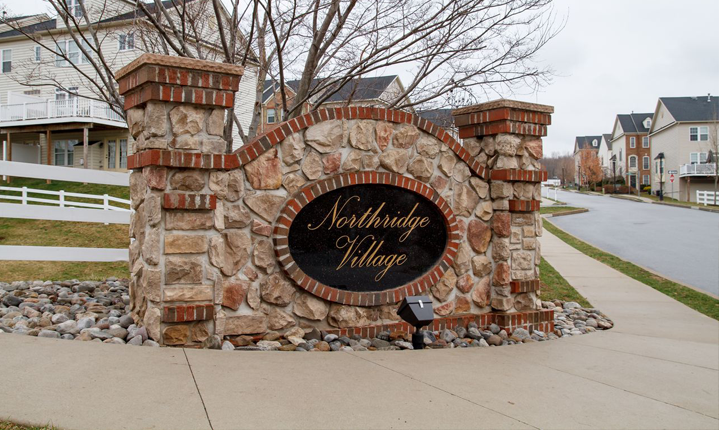 The entrance to the Northridge Village community.