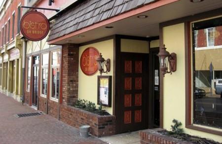 The front of the restaurant Bistro on Bridge in Phoenixville Pennsylvania
