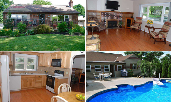 Four pictures of a lovely home for sale in Phoenixville PA
