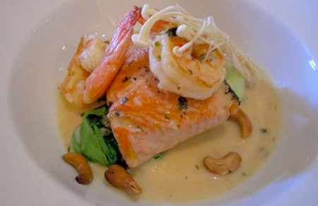A picture of salmon from Marly's BYO
