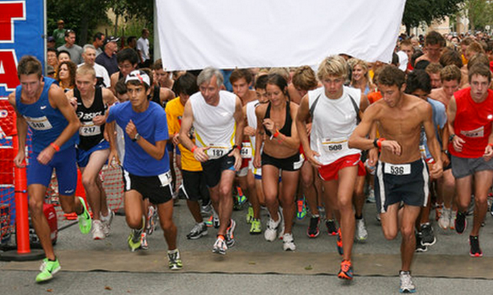 a picture of people starting a race