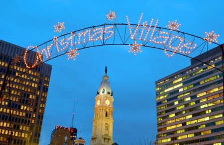 a picture of the 'Christmas Village' Banner
