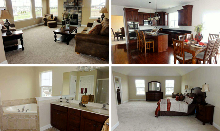 Living Room, Kitchen, Bathroom, Bedroom